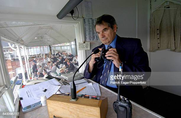 Johnny Dennis public address announcer at Lord's during the 3rd NatWest Challenge One Day International between England and Pakistan at Lord's London...