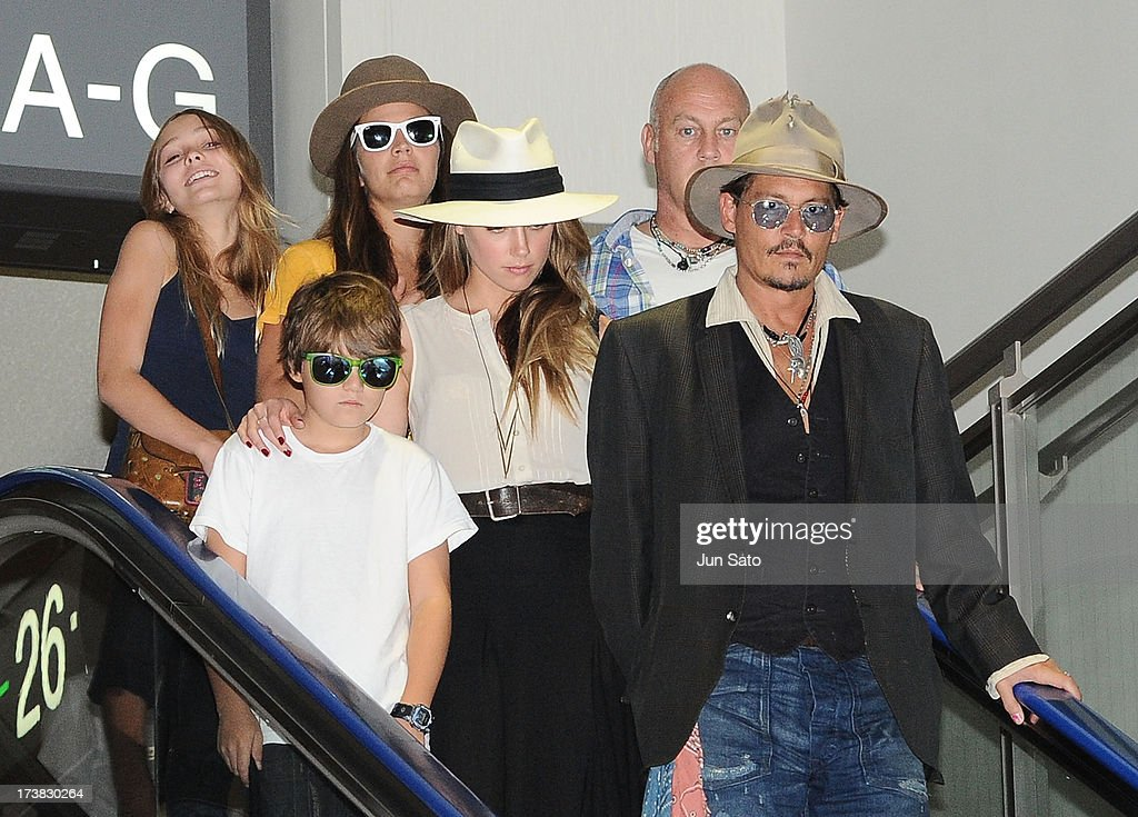 Johnny Depp, Amber Heard, Jack Depp and Lily Rose Melody ...