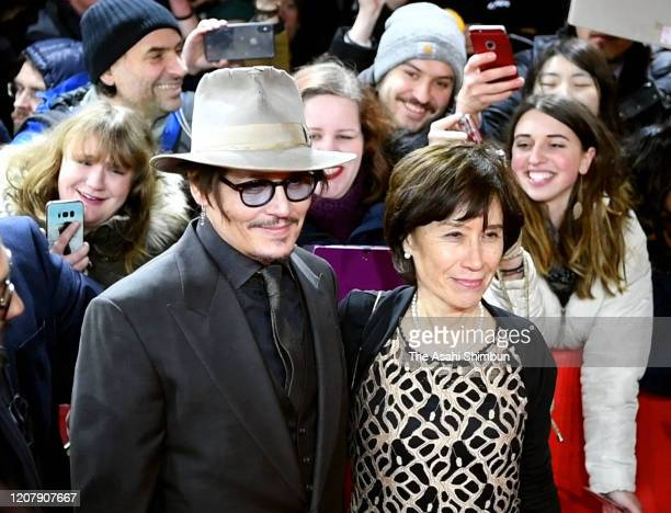 Johnny Depp and Aileen Mioko Smith attend the Minamata Premiere at the 70th Berlinale International Film Festival Berlin at Grand Hyatt Hotel on...