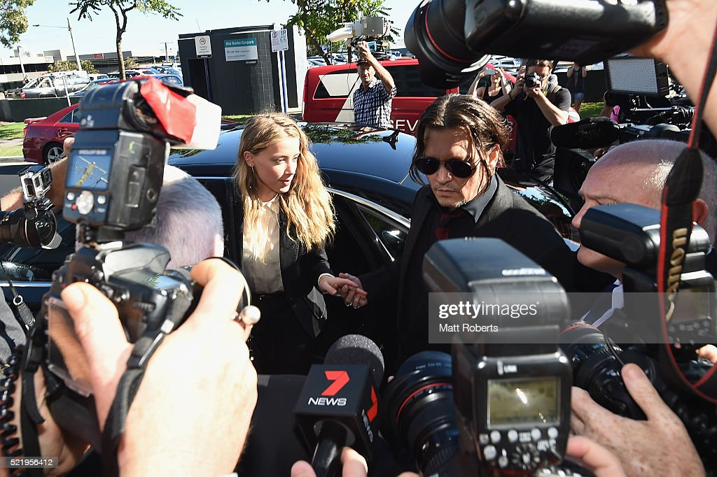 Amber Heard Faces Trial In Gold Coast Court For Smuggling Johnny Depp's Dogs Into Australia : News Photo