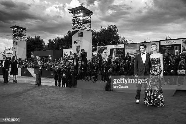 Johnny Depp and Amber Heard attend a premiere for 'The Danish Girl' during the 72nd Venice Film Festival on September 5 2015 in Venice Italy