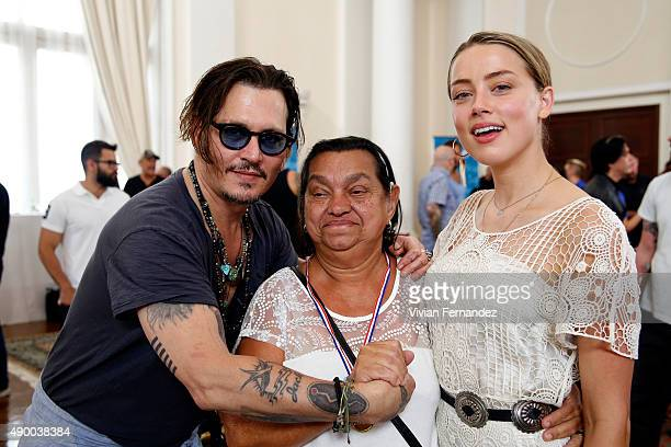 Johnny Depp and Amber Heard from The Hollywood Vampires attend the Starkey Hearing Foundation event to support and benefit people in need at Belmond...
