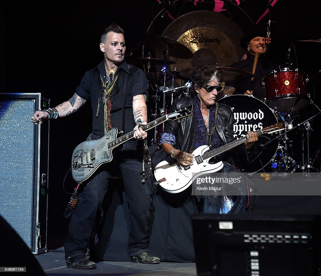 Hollywood Vampires Perform At Ford Ampitheater at Coney Island Boardwalk
