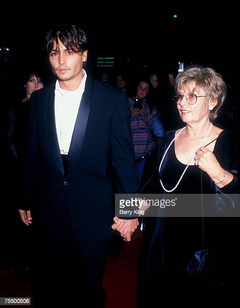 Johnny Depp and mother at the The Academy in Los Angeles, California