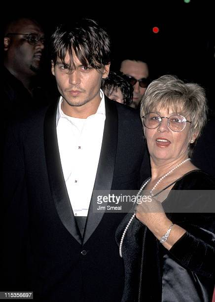 "Johnny Depp and mother Betty Sue Palmer during ""Nick of Time"" Premiere at The Academy in Beverly Hills, California, United States."