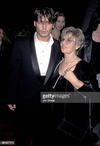 Johnny Depp and mother Betty Sue Palmer