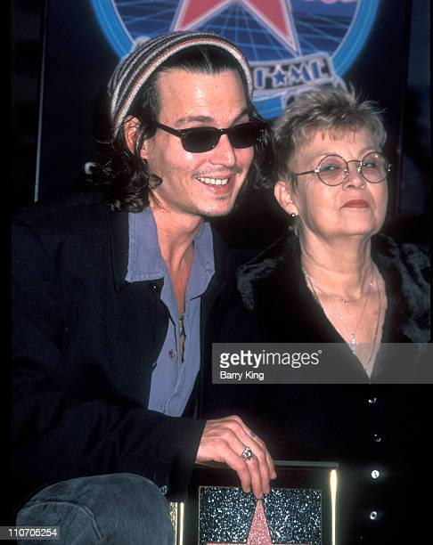 Johnny Depp and mother during Johnny Depp honored with a Star on Hollywood Walk of Fame at Hollywood Boulevard in Hollywood, California, United...