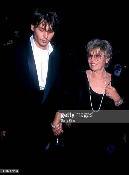 "Johnny Depp and mother during ""Nick of Time"" Premiere at The Academy in Beverly Hills, California, United States."