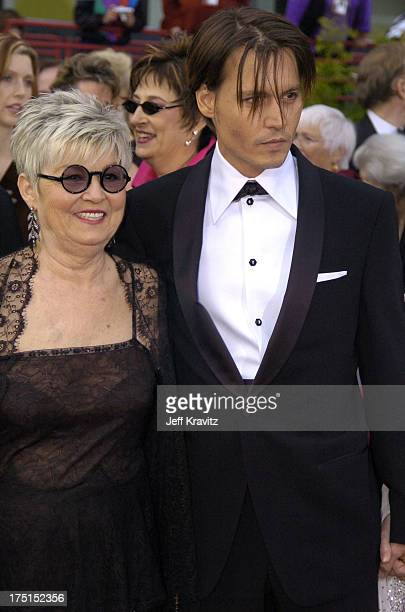 Johnny Depp and mother during The 76th Annual Academy Awards - Arrivals by Jeff Kravitz at Kodak Theatre in Hollywood, California, United States.