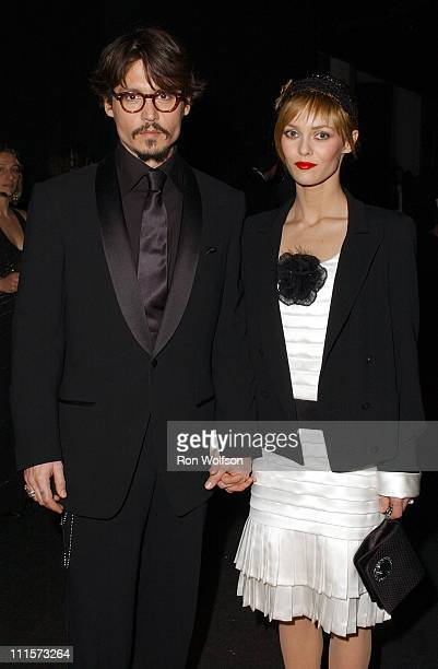 Johnny Depp and Vanessa Paradis during 11th Annual Screen Actors Guild Awards - Green Room at Shrine Auditorium in Los Angeles, California, United...