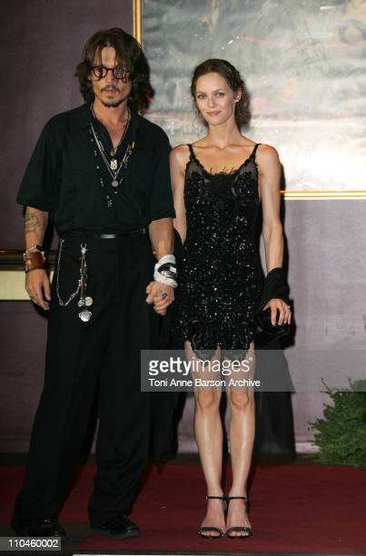 Johnny Depp and Vanessa Paradis during 'Pirates of The Caribbean Dead Man's Chest' Paris Premiere at Gaumont Marignan Theater in Paris France