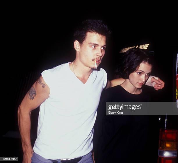 Johnny Depp and Winona Ryder in Los Angeles California