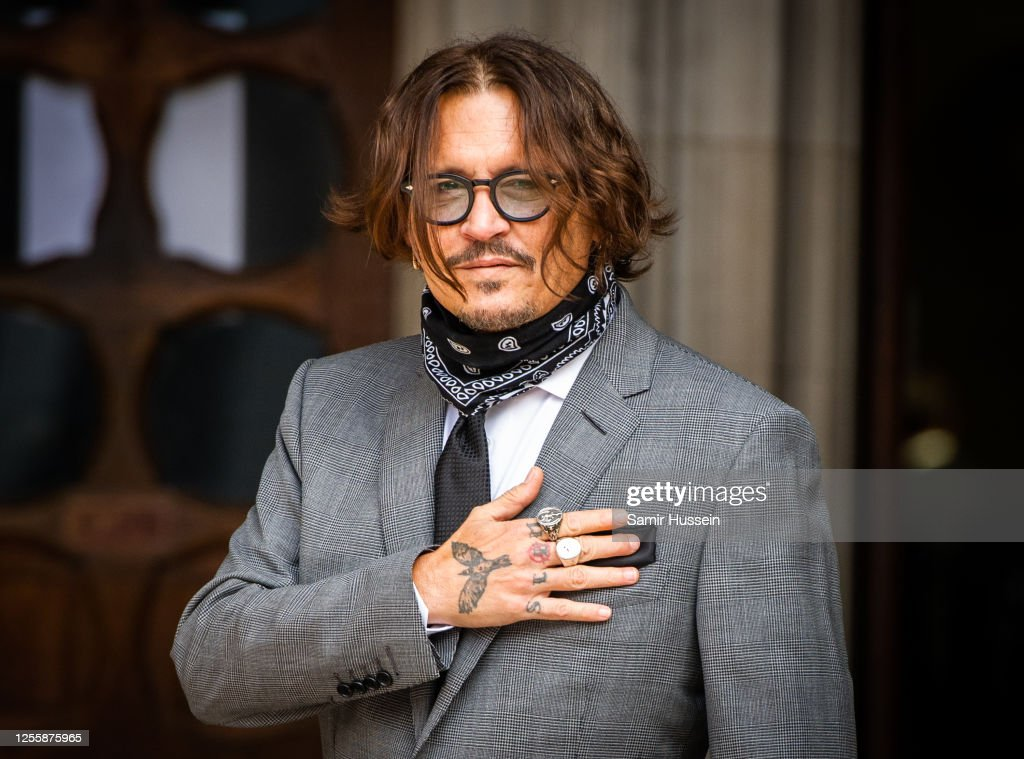 Johnny Depp In Libel Case Against The Sun Newspaper - Day 5 : News Photo