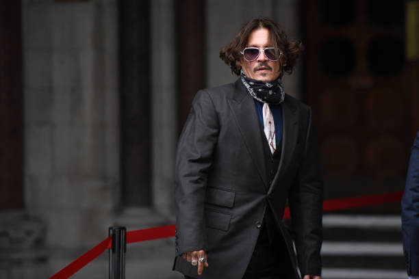 GBR: Johnny Depp In Libel Case Against The Sun Newspaper