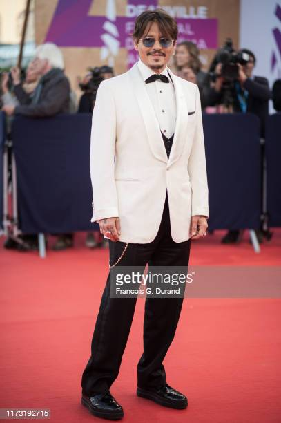 "Johnny Depp arrives at the screening of ""Waiting for the Barbarians"" during the 45th Deauville American Film Festival on September 08, 2019 in..."