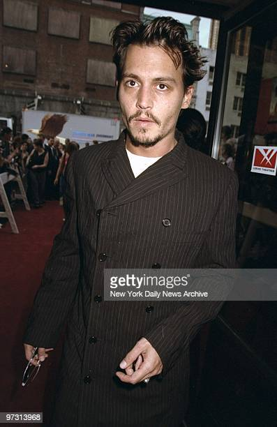 Johnny Depp arrives for premiere of movie Fear and Loathing In Las Vegas at Sony Theatre Depp stars in the film