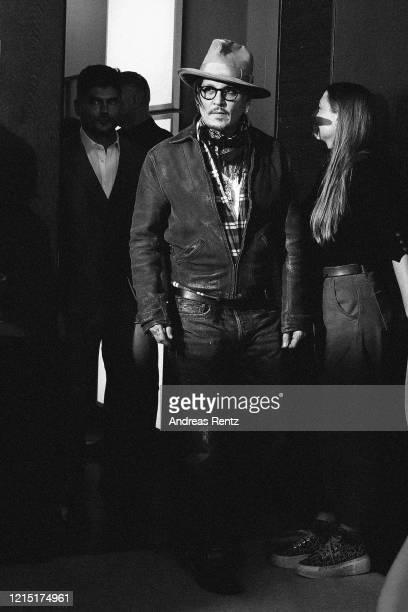 Johnny Depp arrives for the Minamata photo call during the 70th Berlinale International Film Festival Berlin at Grand Hyatt Hotel on February 21 2020...
