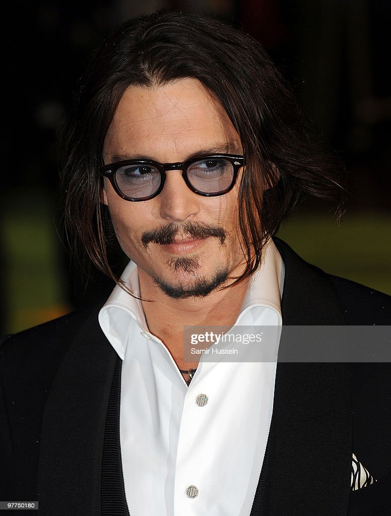 Johnny Depp arrives for the Royal World Premiere of 'Alice in Wonderland 'at the Odeon Leicester Square on February 26, 2010 in London, England.