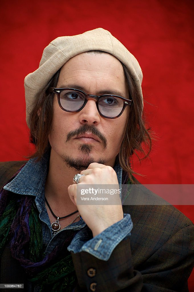 Johnny Depp at the 'Alice In Wonderland' press conference at the Renaissance Hollywood Hotel on February 20, 2010 in Hollywood, California.