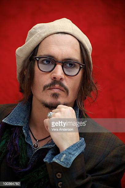 Johnny Depp at the 'Alice In Wonderland' press conference at the Renaissance Hollywood Hotel on February 20 2010 in Hollywood California