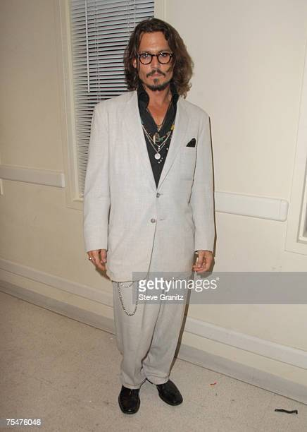 Johnny Depp at the Beverly Hilton Hotel in Beverly Hills, California