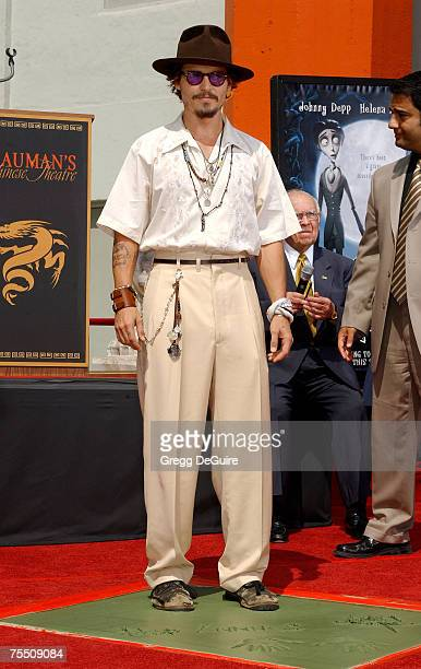 Johnny Depp at the Grauman's Chinese Theatre in Hollywood, California