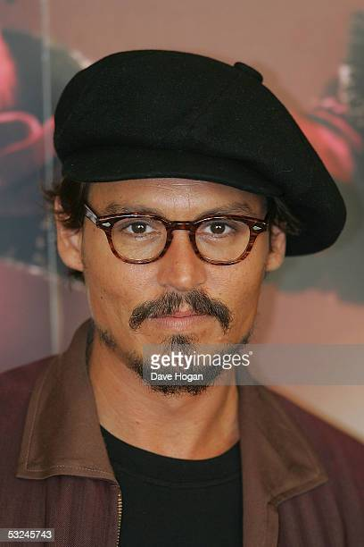 Johnny Depp attends a press photocall for the new film 'Charlie And The Chocolate Factory' at Claridges on July 16 2005 in London England
