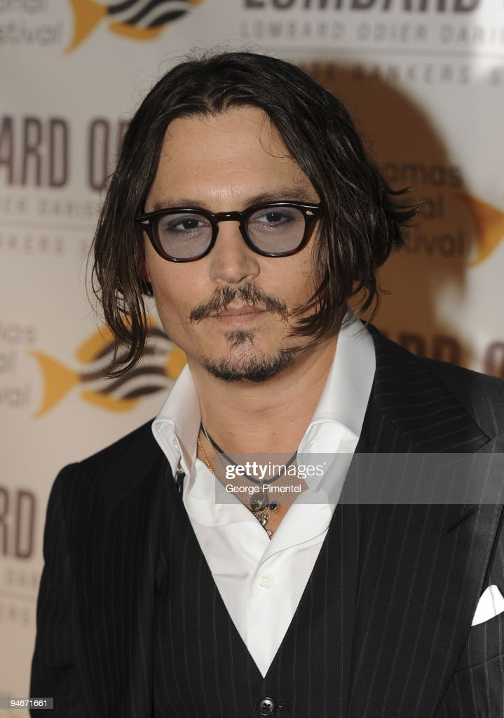 Johnny Depp attends his special tribute and presentation of the prestigious Career Achievement Award at the 6th Annual Bahamas Film Festival at the Balmoral Club on December 13, 2009 in Nassau, Bahamas.