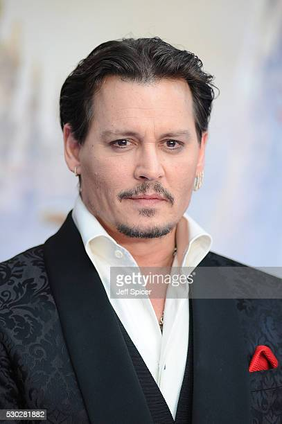 Johnny Depp attends the European premiere of Alice Through The Looking Glass at Odeon Leicester Square on May 10 2016 in London England