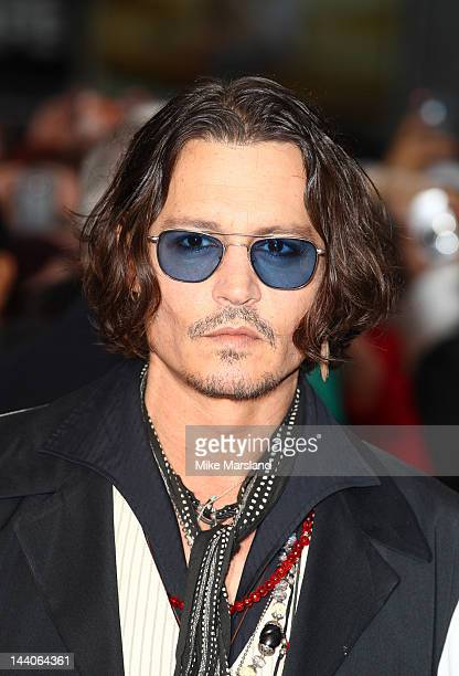 Johnny Depp attends the European premiere of Dark Shadows at Empire Leicester Square on May 9, 2012 in London, England.