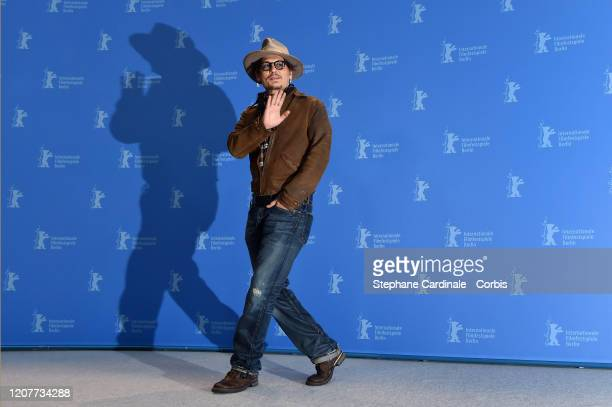 "Johnny Depp attends the ""Minamata"" photo call during the 70th Berlinale International Film Festival Berlin at Grand Hyatt Hotel on February 21, 2020..."