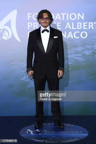 Johnny Depp attends the Monte-Carlo Gala For Planetary Health on September 24, 2020 in Monte-Carlo, Monaco.
