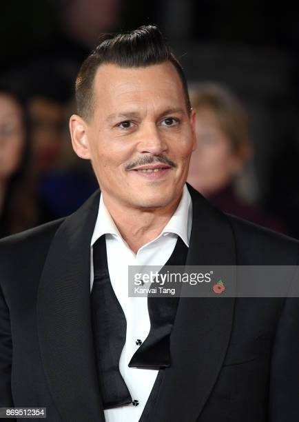 Johnny Depp attends the 'Murder On The Orient Express' World Premiere at Royal Albert Hall on November 2 2017 in London England