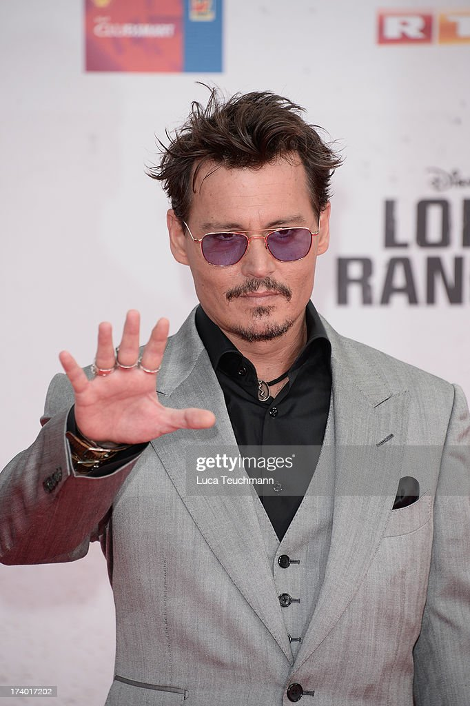 Johnny Depp attends the premiere of 'Lone Ranger' at Sony Centre on July 19, 2013 in Berlin, Germany.