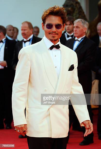 Johnny Depp attends the Tim Burton Golden Lion For Lifetime Achievement Award in Venice during Day 8 of the 64th Venice Film Festival on September 5,...