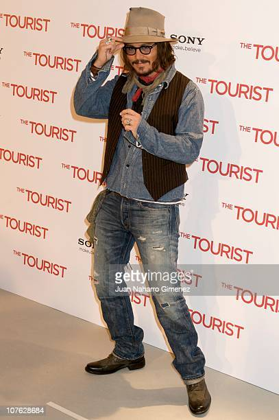 Johnny Depp attends 'The Tourist' photocall at Villamagna Hotel on December 16, 2010 in Madrid, Spain.