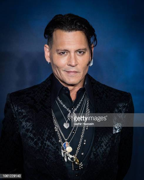 Johnny Depp attends the UK Premiere of Fantastic Beasts The Crimes Of Grindelwald at Cineworld Leicester Square on November 13 2018 in London England