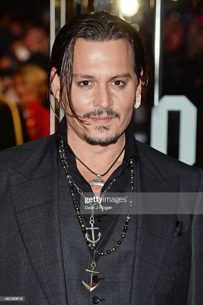Johnny Depp attends the Virgin Atlantic Gala screening of 'Black Mass' during the BFI London Film Festival at Odeon Leicester Square on October 11, 2015 in London, England.