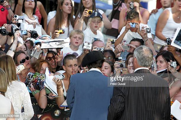 Johnny Depp during 'Charlie and the Chocolate Factory' London Premiere at Odeon Leicester Square in London United Kingdom