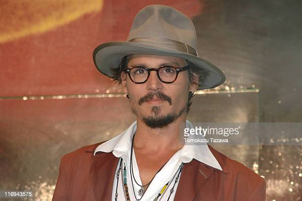 Johnny Depp during 'Charlie and the Chocolate Factory' Tokyo Premiere Inside at Roppongi Hills Arena in Tokyo Japan