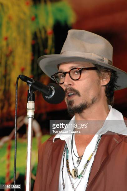 Johnny Depp during 'Charlie and the Chocolate Factory' Tokyo Premiere Inside at Roppongi Hills Arena in Tokyo Roppongi Hills Arena Japan