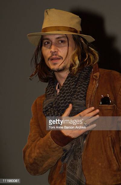 Johnny Depp during Deauville 2001 Blow Premiere in Deauville France