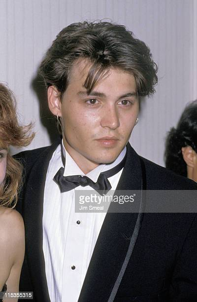 Johnny Depp during For The Love of Children AIDS Benefit at Century Plaza Hotel in Los Angeles California United States