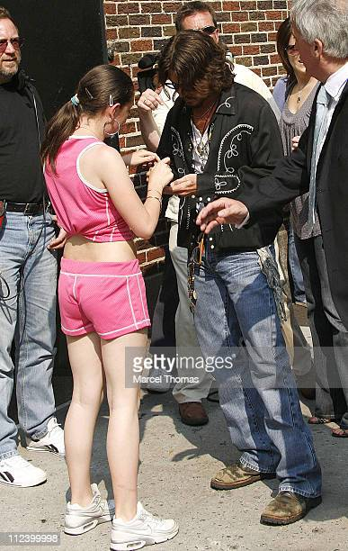 """Johnny Depp during Johnny Depp Stops By """"The Late Show With David Letterman"""" - July 27, 2006 at The Ed Sullivan Theater in New York City, New York,..."""