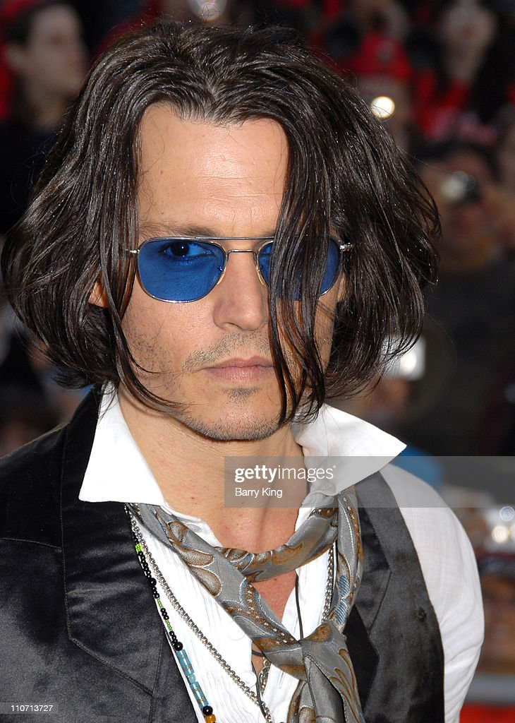 Johnny Depp during 'Pirates of the Caribbean: At World's End' World Premiere - Arrivals at Disneyland in Anaheim, California, United States.