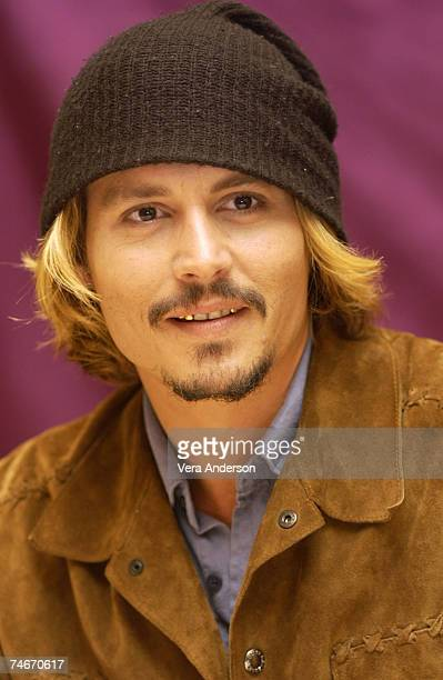 35addfbfe05 Johnny Depp during Pirates of the Caribbean The Curse of the Black Pearl  Press Conference with