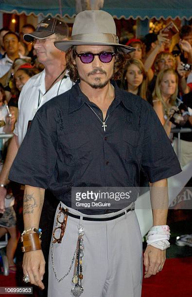 Johnny Depp during World Premiere of Walt Disney Pictures' Pirates of the Caribbean Dead Man's Chest Arrivals at Disneyland in Anaheim California...