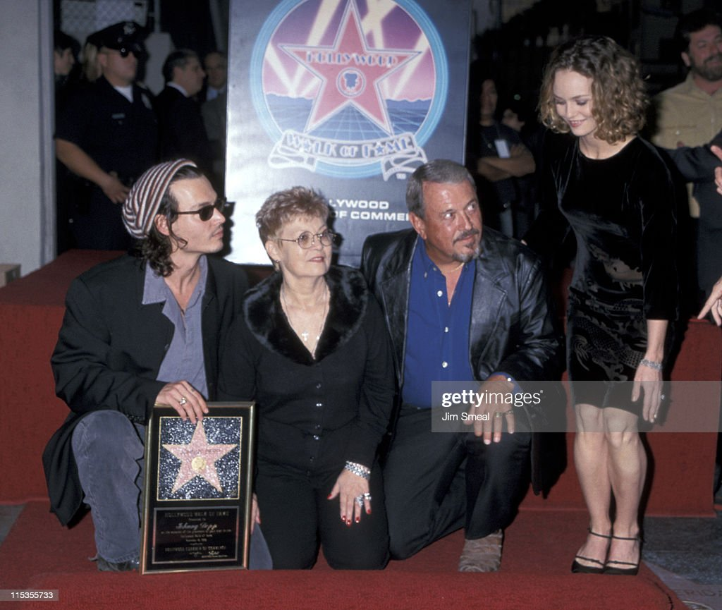 Johnny Depp, his parents, and Vanessa Paradis during ...