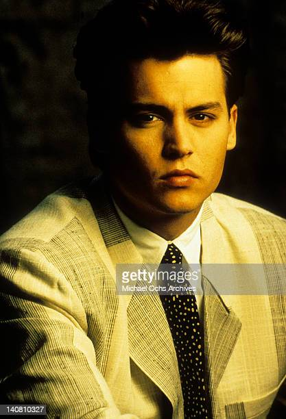 Johnny Depp in a publicity portrait from the television series '21 Jump Street' 1987
