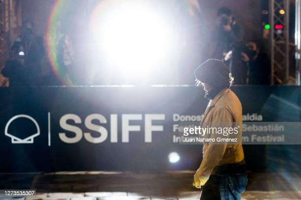 Johnny Depp is seen arriving at the Maria Cristina Hotel during 68th San Sebastian International Film Festival on September 19, 2020 in San...
